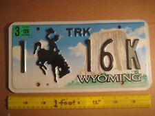 License Plate, Wyoming, Devil's Tower, 1 (Casper County) 16 K (low # for Casper)