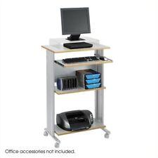 Scranton & Co Standing Wood Workstation in Gray