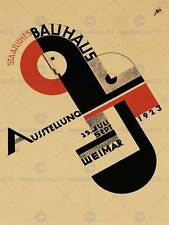 EXHIBITION BAUHAUS WEIMAR ICON GERMANY VINTAGE RETRO ADVERTISING POSTER 1642PY