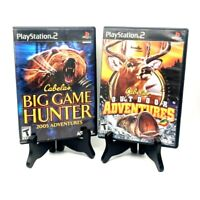 Cabela's Big Game Hunter 2005 + Outdoor Adventures PS2 Playstation 2 Hunting Lot