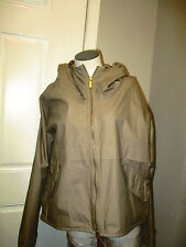 Woolrich Womens Zip Front Rain Jacket L Light Beige New with Defect