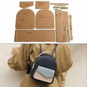 Mini Bag DIY Sewing Patterns Set 21x24x10cm Kraft Paper Backpack Making Template