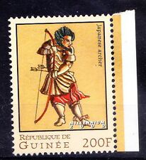 Guinee MNH, Japanese Archer, Kyudo, Weapon, hunting   -S2