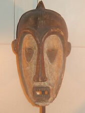 RARE AFRICAN TRIBAL MASK *LARGE FULL SIZE CARVED WOOD CEREMONIAL HEAD* RARE+FINE