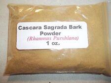 1 oz. Cascara Sagrada Bark Powder (Rhamnus purshiana)