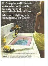 PUBLICITE  1972  CRANE salles de bains sanitaires