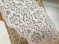 "Beautiful 5""/13CM Stone/Beige Galloon Stretch Flat Lace Trim.Sewing/Crafts/"