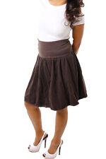 Markenlose unifarbene knielange Damenröcke