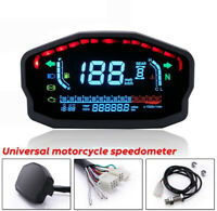 digital LED Speedometer Speed Speed Speedometer Chrome Retro kimiss Universal 0/ ~ 160/ km//H of Speedometer Motorcycle Universal Tachometer