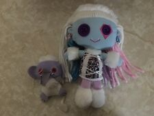 Monster High Friends Plush Rag Doll Abbey BOMINABLE and Shiver Pet 2011 Lot