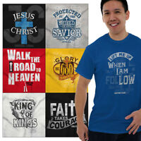 Religious Christian Tee Shirt For Men Jesus Christ Graphic T-Shirt Gift Tshirt T