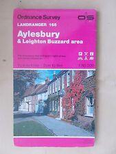 1989 ORDNANCE SURVEY SHEET MAP No 165 AYLESBURY & LEIGHTON BUZZARD AREA