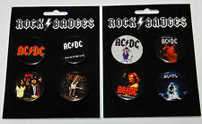 8 x AC/DC SMALL ROUND FAN BADGES SOUVENIR PIN HIGHWAY TO HELL MERCHANDISE ACDC
