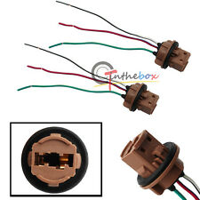 2X 7443 7440 Pre-wired Sockets Plugs Wiring Harness For Brake Turn Signal Lights