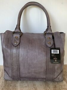 NWT FRYE MELISSA LEATHER TOTE BAG AMETHYST PURSE WASHED LEATHER