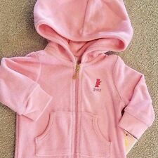 SWEET! NEW BABY JUICY COUTURE 0-3 MONTH PINK TERRY CLOTH HOODED OUTFIT