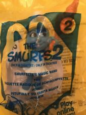McDonalds Happy Meal Toy 2013 Smurfs #2 Smurfette Magic Wand Cake Topper