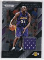 2018-19 SHAQUILLE O'NEAL #49 PANINI PRIZM SENSATIONAL SWATCHES JERSEY LA LAKERS