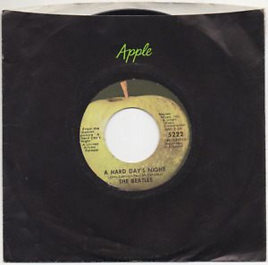"BEATLES A Hard Day's Night 7"" APPLE 5222 REISSUE 45 - ALL RIGHTS RESERVED"