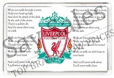 Liverpool LFC Fridge Magnet You'll Never Walk Alone Football Gift Present Sport