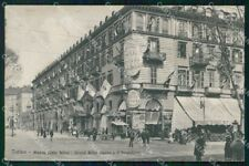 Torino Città Piazza Carlo Felice Grand Hotel Brunner 12284 cartolina RT3464
