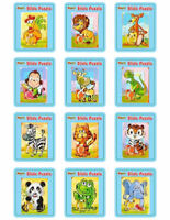 6 Animal Slide Puzzles - Pinata Toy Loot/Party Bag Fillers Wedding/Kids