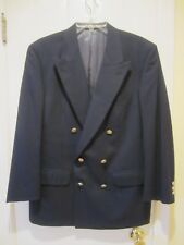 BURBERRY MEN'S DOUBLE BREASTED BLACK WOOL BLAZER SPORTS COAT JACKET SIZE 42R