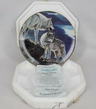 Al Agnew 1993 Year Of The Wolf Tundra Light Collectors Plate with COA