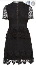 Ted Baker dress Dixa Black Lace SIZE 2 UK 10