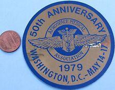 "NASA STICKER vtg 50th Anniversary AEROSPACE MEDICAL ASSN '79 Washington DC - 3"""