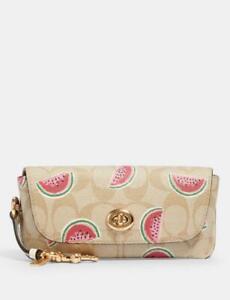 NWT Coach Sunglass Case Signature Watermelon Print 🍉 Shoulder Bag Purse Fob