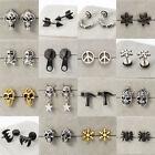 Unique Unisex Cool Stainless Steel Piercing Ear Earring Stud Men Women