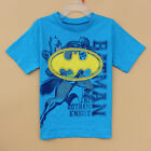 NEW Kids Boys Batman Hero TEE Short Sleeve TOP T-Shirt Size 6.8.10.12, blue