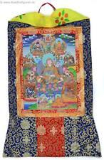 Thangka Padmasambhava Guru Rinpoche Kunstdruck mit Brokatrahmen 63 x 105 cm