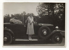 PHOTO Voiture Auto Automobile Ancienne Décapotable Vers 1931 RENAULT
