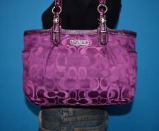 COACH Optic Purple Signature E/W GALLERY Tote Bag Shoulder Purse 15439