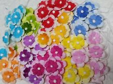 100 Mulberry Paper 17mm FLOWERS  MPFF36 SCRAPBOOKING / CARDMAKING Embellishment