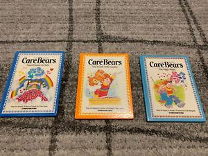 Vintage Care Bear Books -lot Of 3