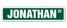 JONATHAN Street Sign Childrens Name Room Decal| Indoor/Outdoor