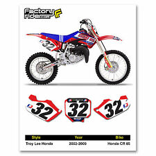 2002-2009  HONDA CR 85 Number Plates Graphics Dirt Bike TLD Style by Enjoy MFG