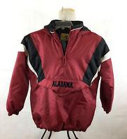 Alabama Football Jacket Boys Large Reebok Heisman Crimson Roll Tide Hood Zipper