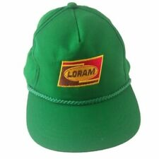 Loram Maintenance of Way Inc Railroad Track Snapback Hat Embroidered Green