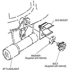 SureFire M15 Fire Fighter Helmet Mount for 6P Flashlight