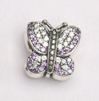 Dazzling Pink Butterfly Charm Fit European Bracelet