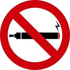 3 Pack No vapotage de Sécurité Fumer Signes D'Avertissement Autocollants Pour Voiture Mur De Verre Porte