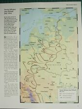 WW2 WWII MAP ~ SOVIET ADVANCE INTO POLAND JULY 1944 GERMAN COUNTER ATTACKS