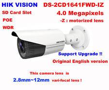 Hikvision English DS-2CD1641FWD-IZ 4MP IP security 2.8~12mm vari-focal camera