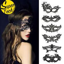 Lace Black Eye Mask Masquerade Women Ladies Party Fancy Dress Costume Halloween