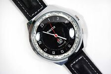 "Russian watch ""The Raketa"" 24 hour dial. Time zone design. Mineral glass. Black."