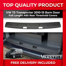 VW T5 TRANSPORTER 10-15 TWIN BARN DOOR EXTRA WIDE ABS REAR FULL THRESHOLD COVER